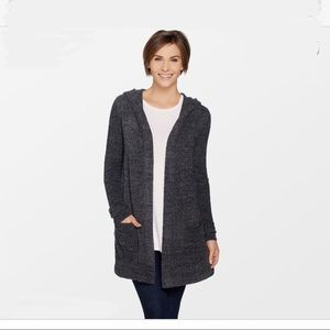 Barefoot Dreams Blue Open Front Cardigan Sweater